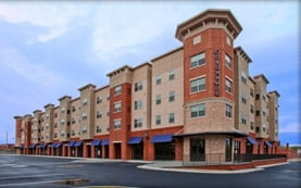 Mixed Used Building Construction by Pinnacle Construction - Colonnade Apartments, Harrisonburg, Virginia