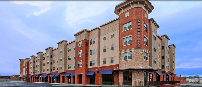 Virginia Mixed Use Construction - Colonnade Apartments, Harrisonburg