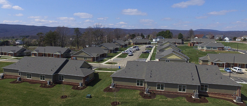 Multifamily Building Construction in Virginia Fieldstone Apartments, Blacksburg