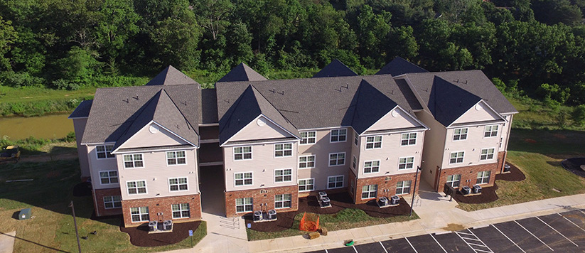 Apartment Building Construction in Blacksburg, Virginina - Fieldstone Apartments
