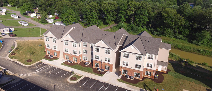 Multifamily Apartment Construction in Blacksburg, Virginina - Fieldstone Apartments