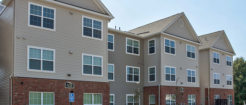 Apartment Construction in Blacksburg, Virginina - Fieldstone Apartments