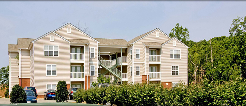 Multifamily Building Construction at Poplar Forest Apartments, Farmville, Virginia