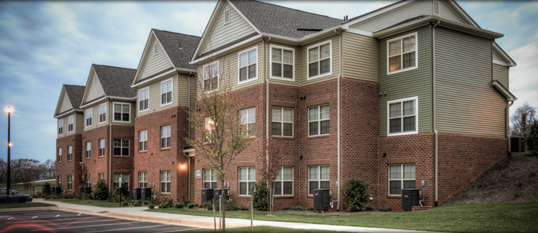 Multifamily Building Construction at Round Hill Meadows, Orange, Virginia